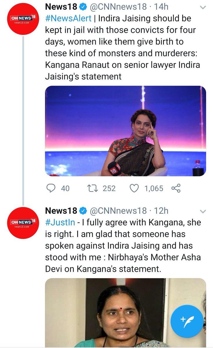 The #queen #KangnaRanaut rules the heart for her honesty #Nirbhaya #IndiraJaising 🙋♀️🙋♀️