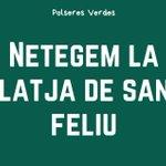 Image for the Tweet beginning: Polseres Verdes ha organitzat una