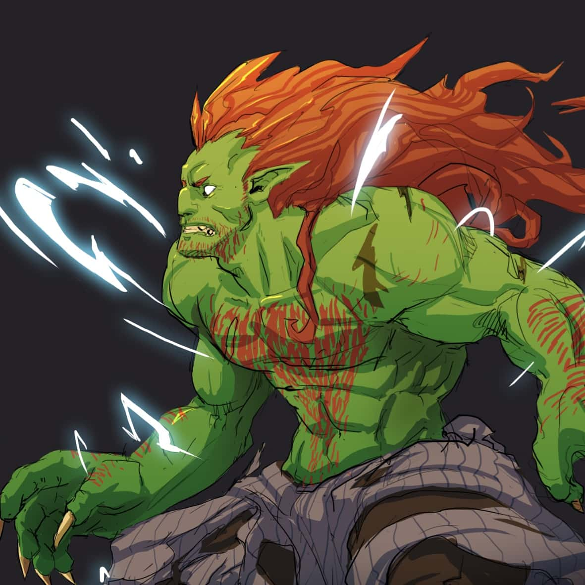 Time for a #Blanka #fanart and redesign by me. :) #conceptart #characterdesign #characterillustration #streetfighter #gameartpic.twitter.com/4TFCfegFCn