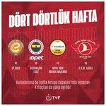 Image for the Tweet beginning: Dört dörtlük hafta! 🇹🇷⠀ ⠀ Kulüplerimiz bu