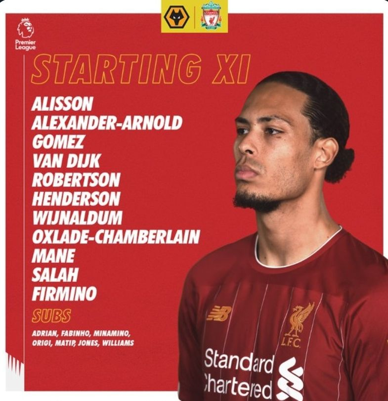 The team news is in - no drama! What do you think of the lineup, Reds?! #WOLLIV