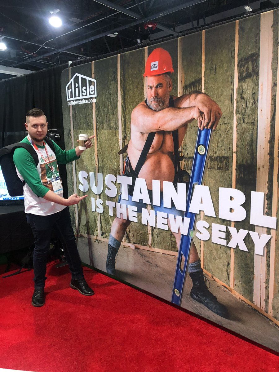 Sustainable is the new sexy @buildwithrise #IBS2020 #IBS #NAHB #BuildersShow #RMFP #BuildingRelationships #TheMillPodcast #InstaBuilding #BuildersofInsta #HomeBuilders #InstaBuildpic.twitter.com/FLyP0KZVee