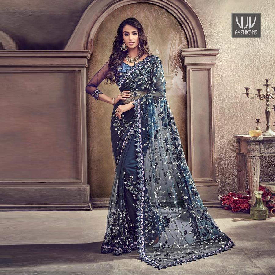 Buy Now @ http://bit.ly/VJV-MN5004  . Modest Navy Blue Color Net Classic Designer Saree . Fabric - Net . Product No  VJV-MN5004  . #saree #sarees #designersaree #weddingsaree #bridalsaree #banarasisarees #netsaree #partywearsaree #embrioderysaree #weddingwearsareepic.twitter.com/WOnH9hrb46