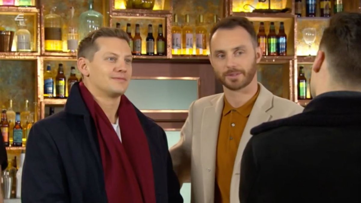 James Nightingale (with Liam Donovan and John Paul McQueen) stills from todays First Look. Pt. IV. #Hollyoaks
