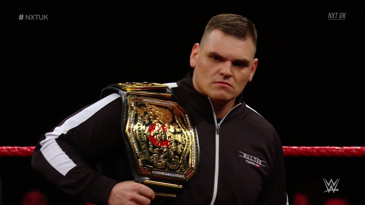 WALTER Receives New WWE NXT UK Title Belt In Today's Rechristening Segment (Video, Photos)