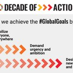 Image for the Tweet beginning: As we enter the #DecadeofAction,