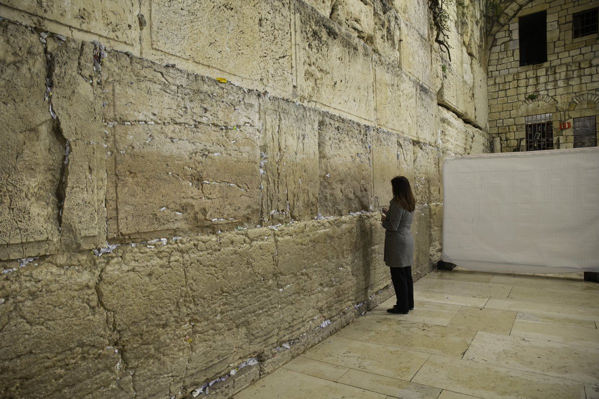 Truly humbling to stand and pray at the Western Wall, a place of sacred holiness for the Jewish community and world.