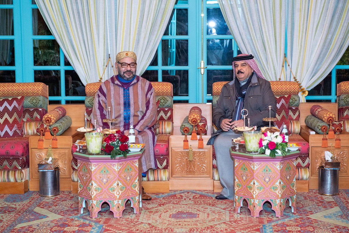 HM King Mohammed VI of Morocco visited, on Thursday in Rabat, King of Bahrain, His Majesty Hamad Bin Isa Al Khalifa, who is on a private visit to Morocco. © BNA| MAP