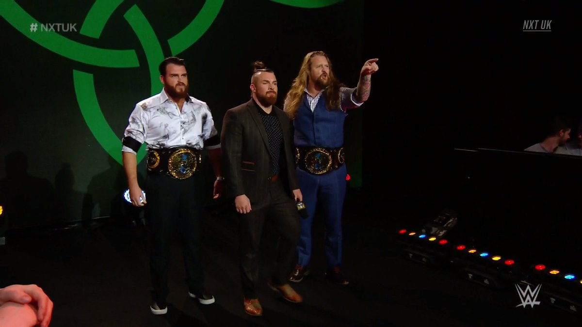 The sounds of those smooth beats can only mean one thing... 🎶🎶🎶GALLUS BOYS ARE IN THE BUILDING!! #GBOT #NXTUK @Joe_Coffey @m_coffey90 @WolfgangYoung