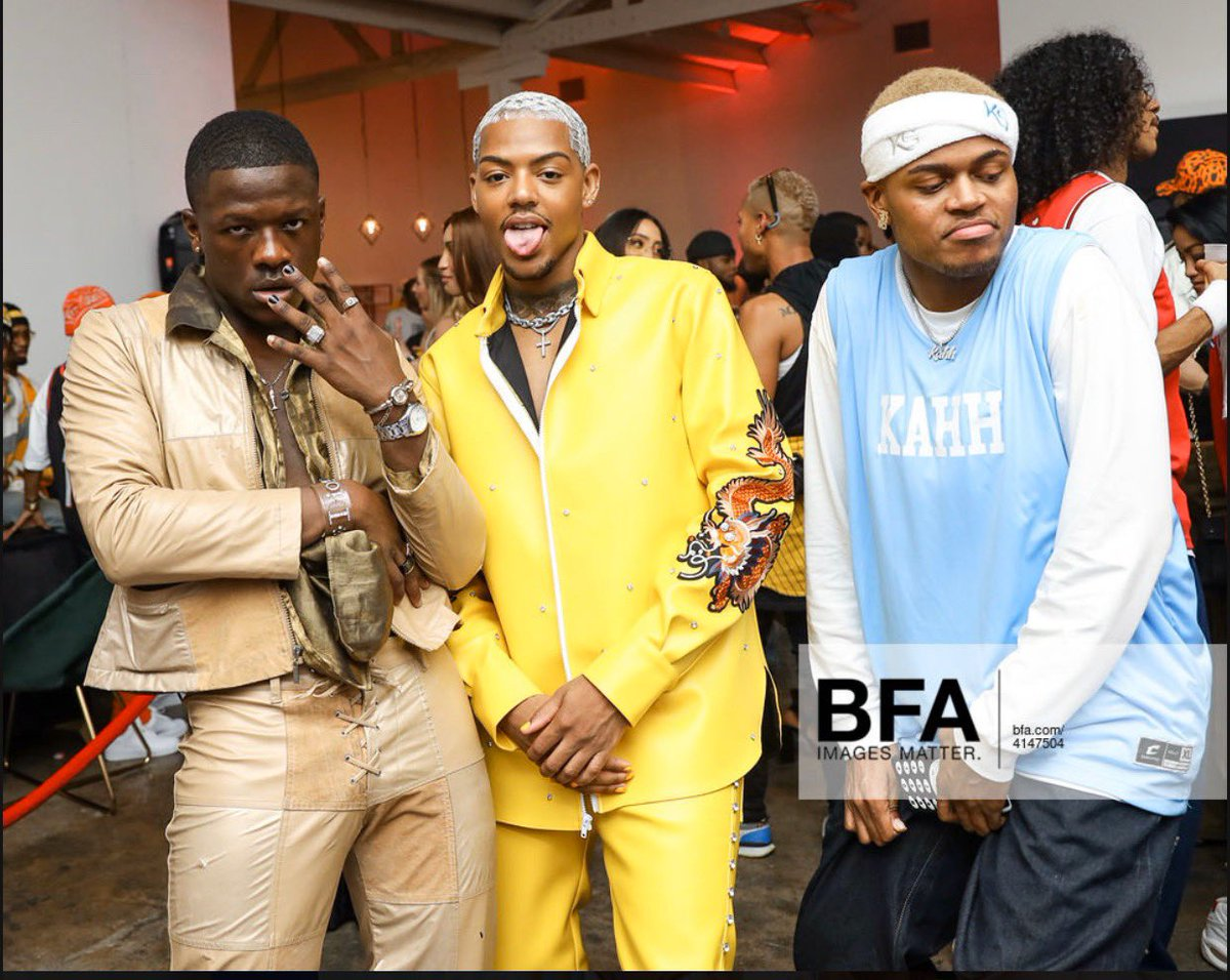 Dennis Rodman , Sisqo and juelz  at kahh 2000s party with @itstarekali & @KahhSpence