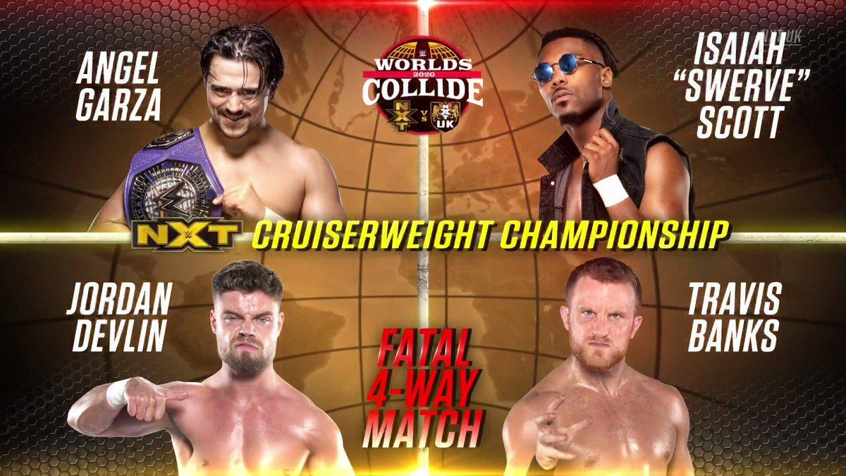 WWE Worlds Collide Title Match Set, Updated Card