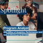 Check out this GS-13/14 program analyst position in GSA's Office of Analytics, Performance, and Improvement! Apply before February 7 @USAJOBS: https://t.co/LLKrtz3GDI #Jobs