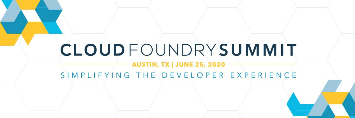 The CFP for #CFSummit is now open! Join us in Austin, TX on June 25, 2020 to discuss how #CloudFoundry simplifies the developer experience. Learn more:  https://www. cloudfoundry.org/events/summit/ austin-2020/call-for-proposals/  … <br>http://pic.twitter.com/dSmq9RCRSK