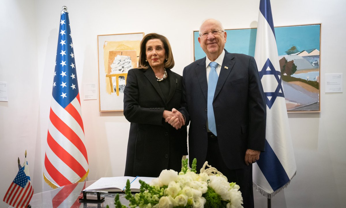This morning, during our visit to Israel for the #WorldHolocaustForum, I met with @PresidentRuvi where we discussed our shared commitment to continue to build upon the strong bipartisan U.S.-Israel relationship. <br>http://pic.twitter.com/pbvCtjuF2n