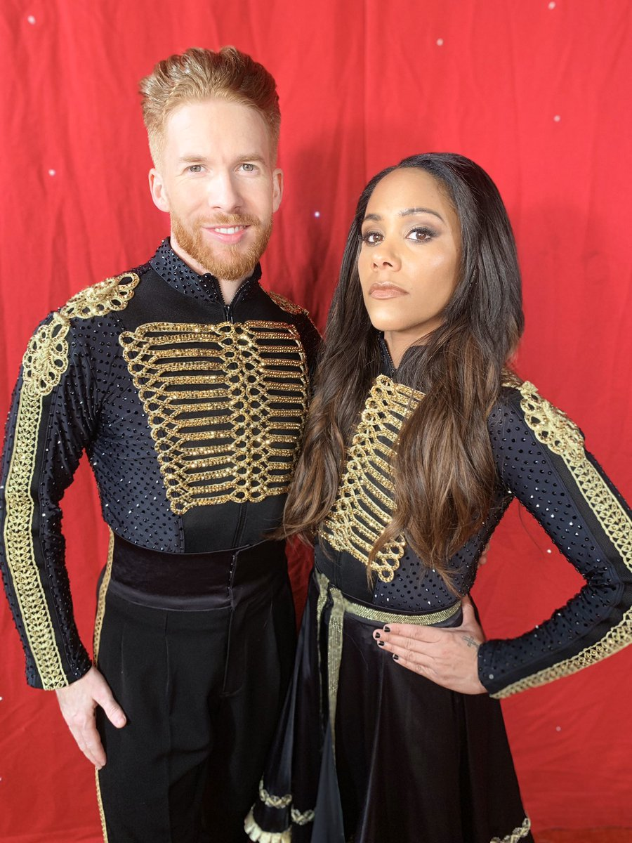 'Who run the world'...... 🙋🏽♀️ Not long now until we kick of the @bbcstrictly live tour. Going to love doing our paso routine everyday. #teamred let's go @Mr_NJones