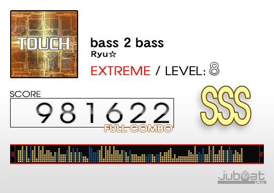 bass 2 bassをプレー! Score:981622 #jubeat_plus