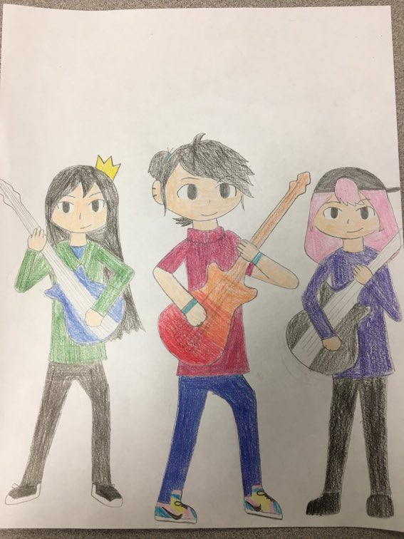 I drew a cool Fan art of @motionwarrior @thecypherden @TabTabbes the 3 playing guitars 🎸 https://t.co/KSUl5wbquw