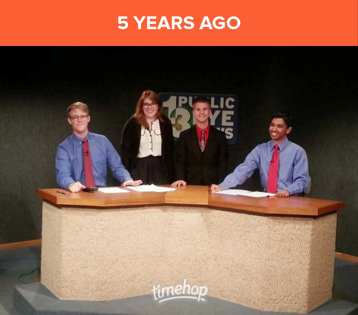 Feeling sentimental today. Dane 5 years ago had no idea he'd be doing this as a career right out of college. Pinch me! #thatnewslife #newsanchor #newsreporter #PublicEyeNews #KVALNewspic.twitter.com/iZnLnVY01R
