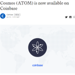 Image for the Tweet beginning: .@cosmos $ATOM is now available