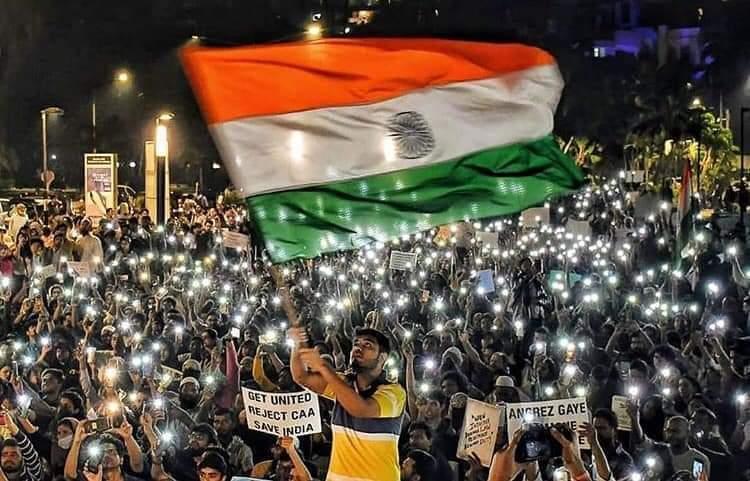 """संविधान पर यक़ीन रखने वाले सभी देशवासियों का """"इंक़लाब स्थल"""" (शाहीन बाग़) स्वागत 🙏🌹💐करता है !!! 🤝🤝🤝 – at University Of Allahabad"""