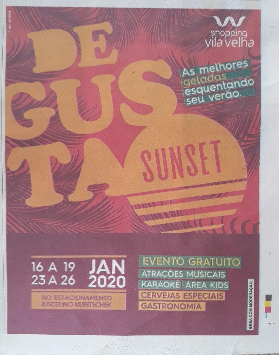 Festival Degusta Sunset no Shopping Vila Velha #DegustaSunset #ShoppingVilaVelha #VilaVelha #atraçõespic.twitter.com/lYUhuAp9P2