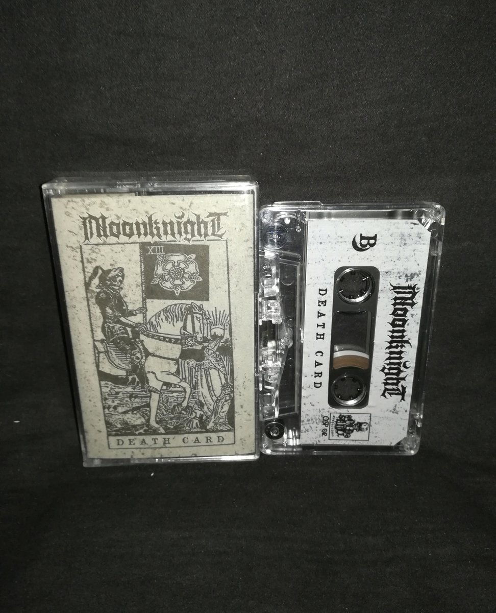 "#Moonnight #USA ""Death Card""   4€+postage⁠ ⁠ warproductions@gmail.com⁠  http://www.war-productions.org   #WarProductions⁠ #Mailorder⁠ #SupportTheUnderground⁠ #BlackMetalTapes #TapeKvlt⁠ #TapeFormat #TapePorn #BlackMetalCollection pic.twitter.com/Z8uubabvI7"