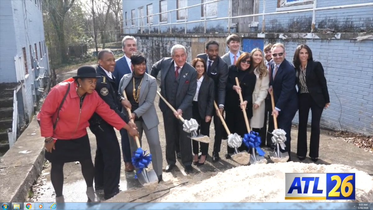 .@Atlanta_Police Recruit Housing , on the @CityofAtlanta westside , is a joint effort between the @atlpolicefdn & the @BlankFoundation . Here is our report on the groundbreaking ceremony for #ATL26 : vimeo.com/385068637 #OneAtlanta