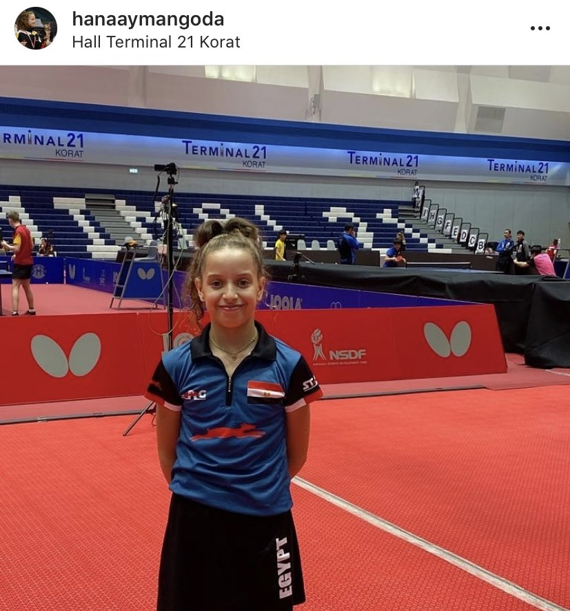 "⬜️ エジプト""13歳天才卓球少女""現る アフリカ初の15歳以下世界ランク1位、2024年パリ五輪のメダル候補? 世界の卓球界に超新星がいる。国際卓球連盟が公式サイトに記事を掲載、13歳の女子選手ハナ・ゴウダを特集、ジュニア最高峰… https://t.co/VcbMdYAZTV"