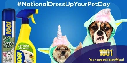 #Competition time for #NationalDressUpYourPetDay  Dress your pet, post the pic and win a portrait of your pet and 1001 products. RT this Tweet! Be a pro and read how to enter here:  #win #competitiontime #giveaway #RTtweet