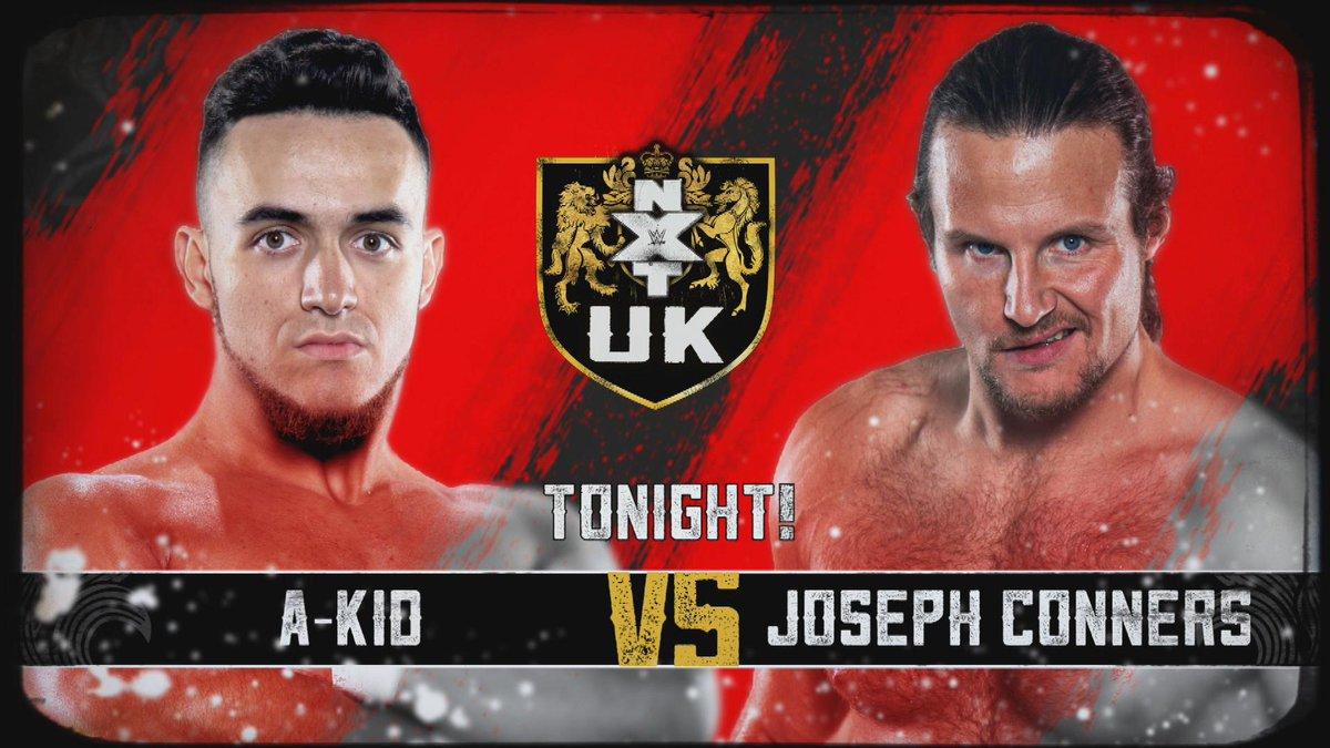 Hoy podréis ver mi combate contra @JosephConners. Además, @KassiusOhno VS @DaveMastiff  A las 21:00 en @WWENetwork