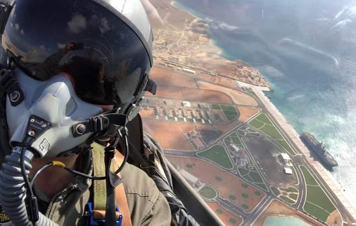 #EAF Selfi over #Bernice new military base Southern #Egypt 💪