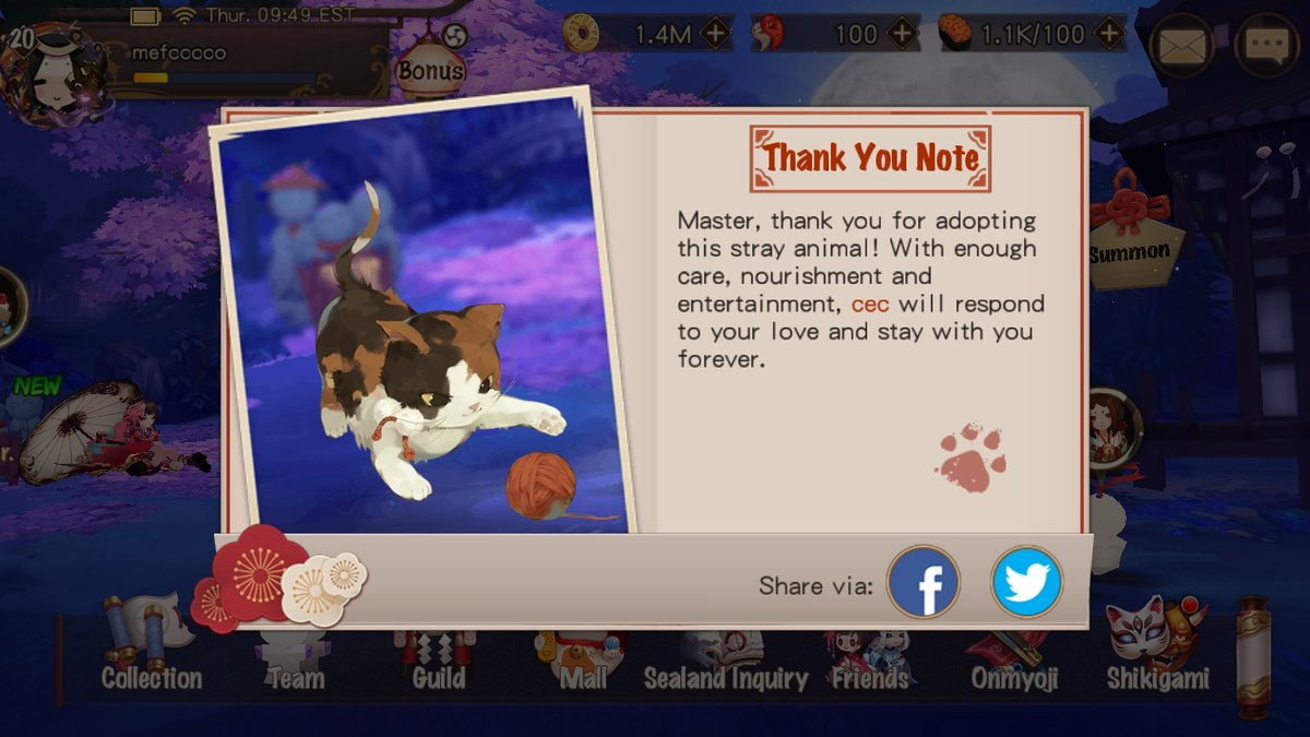 Care for stray animals with Onmyoji. With your kindness, we can create a more caring world.pic.twitter.com/PfnC3vXfjD