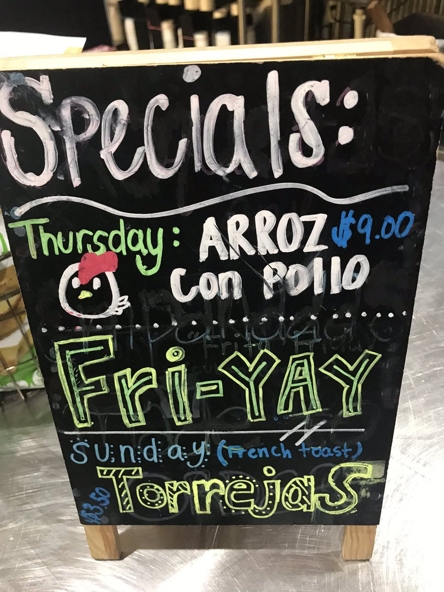 Arrozcon pollo the Thursday special at Chi chi's on Tennessee St. Yes!