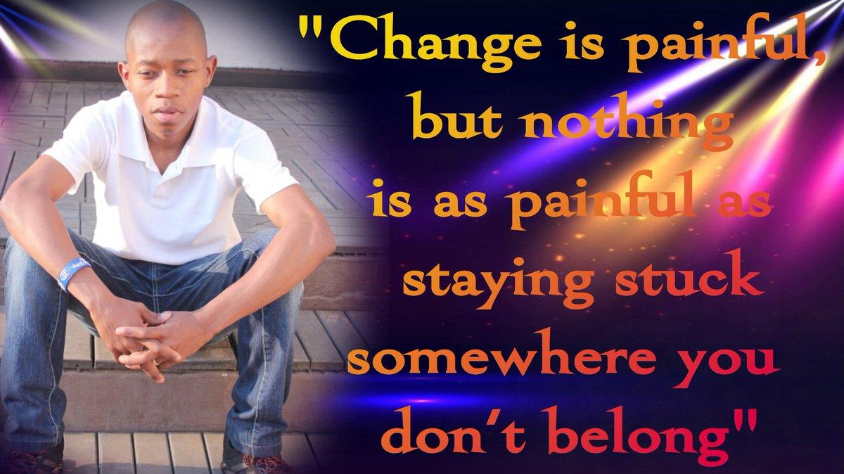 Change is painful #ThursdayMotivation #Motivation #inspirationalwords