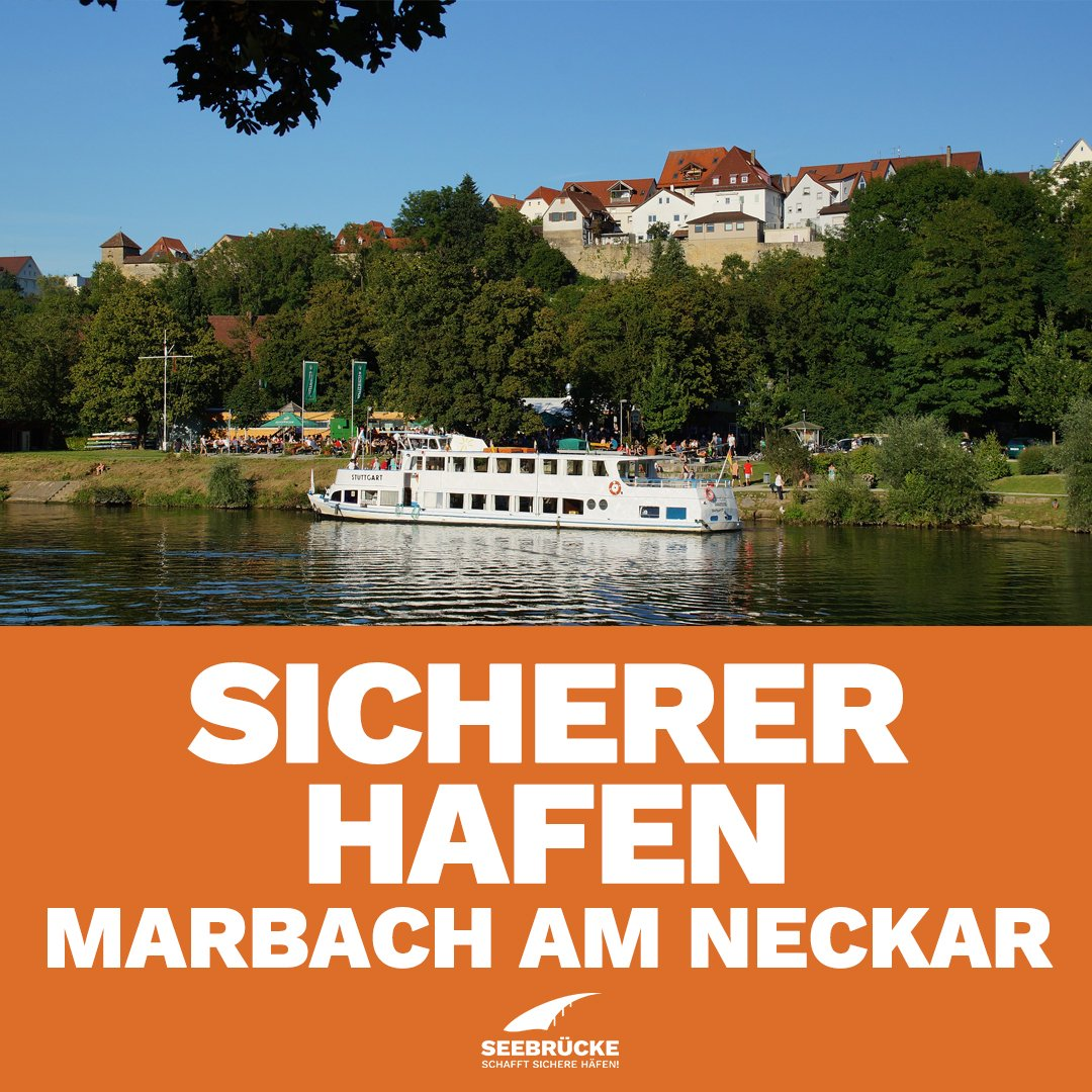 Marbach am Neckar is the first community in the district of Ludwigsburg to acknowledge its responsibility to help people who are in need. #MarbachAmNeckar supports the #Seebrücke initiative and decides to be a safe harbour.pic.twitter.com/X30qf2eDUl