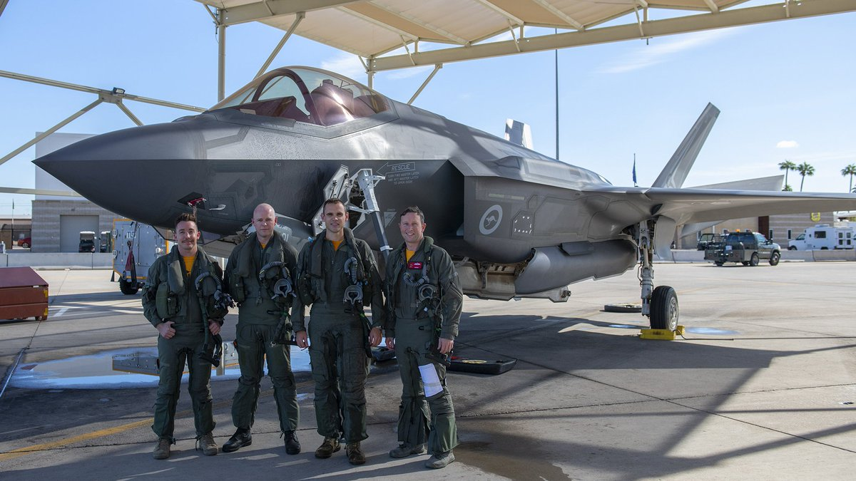 Congratulations to the @AusAirForce for completing their #F35 training mission at @LukeAFB! 🇦🇺 ⚡ Learn more 🔗 go.usa.gov/xdcQG