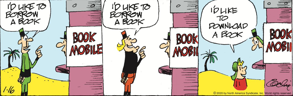 👑 Comic of the Day by Crock 👑 Remember when going to the library with your library card was a thing? Throwback! To read more comics from Crock, check out Comics Kingdom: https://www.comicskingdom.com/crock#comics #comicstrips #ComicsKingdom #illustrations #drawings #ComicoftheDay