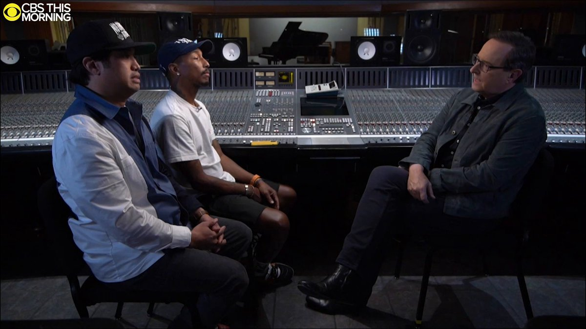 ONLY ON @CBSThisMorning: The Neptunes' @Pharrell and @chadhugo give their first reaction to their induction into the @SongwritersHOF. @AnthonyMasonCBS joins them in the studio as they work on new music. Friday at 8 a.m. on @CBS: cbsn.ws/2NyWpbP