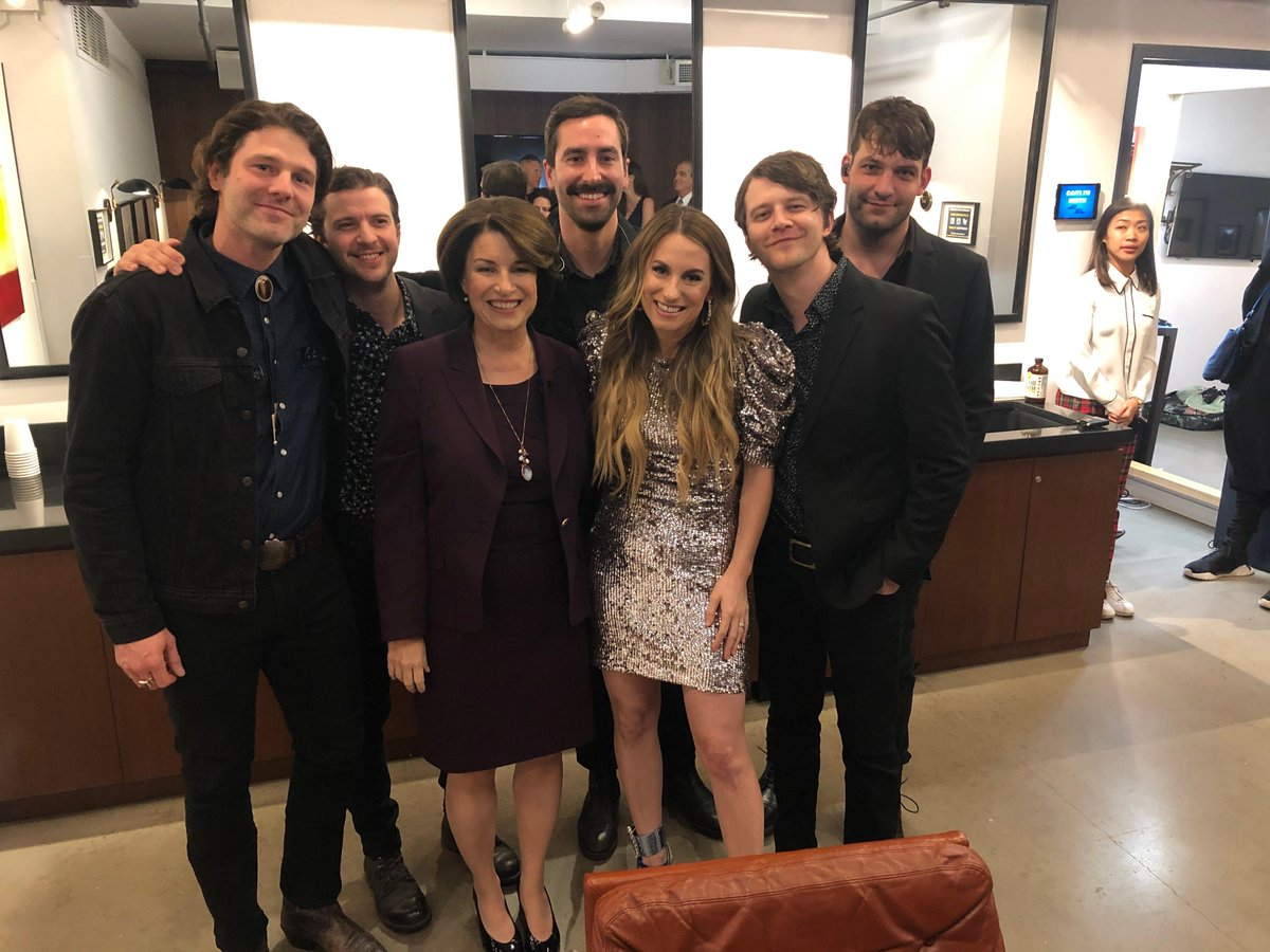 Great to see the talented @CaitlynSmith (of Cannon Falls, MN!) and her band last night for @LateNightSeth!