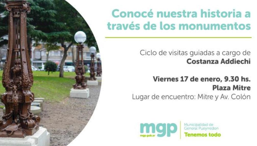 #MAÑANA | ¡@MGPmardelplata te invita a una nueva visita guiada por los monumentos escultóricos de la ciudad! ⛲️ ¿Querés participar? 😃 👉🏼 ¡Acercate directamente al #PaseoDeLasFarolas a las 9:30 hs.! 📍 Plaza #Mitre  🗣️ A cargo de @CAddiechi  #MardelPlata #TenemosTodo