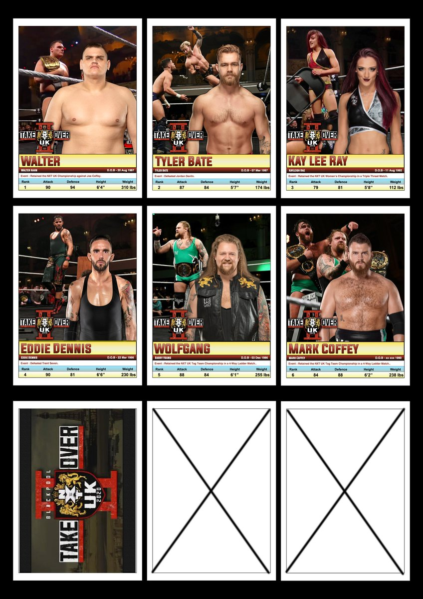 I really wanted to print these as cards.#NXTTakeOverBlackpool