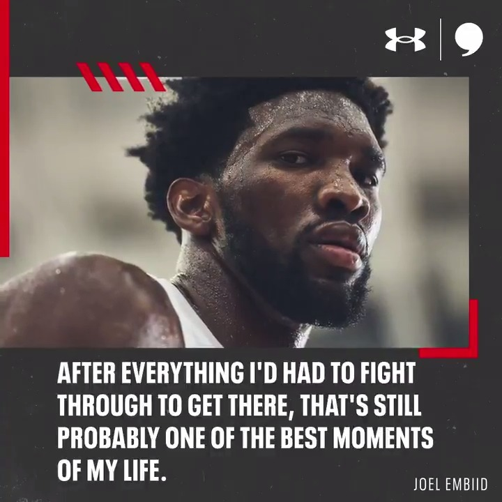 Compared to what @JoelEmbiid's already been through? A finger is nothing. And he knows he has Philly's support through it all. His story: playerstribu.ne/Embiid21 In partnership with @UnderArmour.