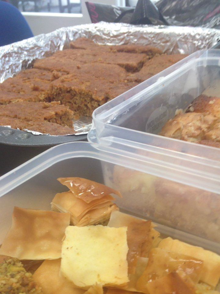 #GBBO has nothing on our #fundraisingfriday bakes! Baklava, Lemon Drizzle, carrot cake brownies are the house favourites!