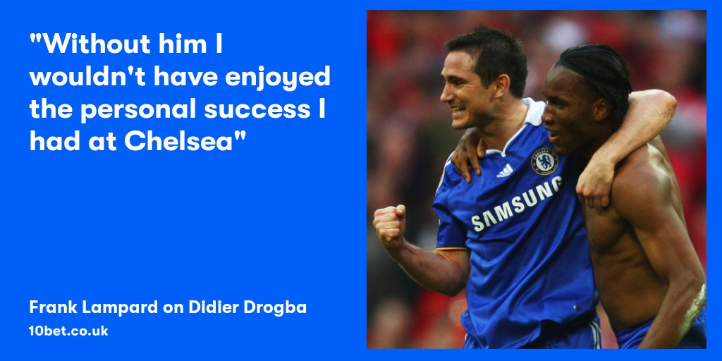 Frank Lampard ➡️ Didier Drogba = the most lethal partnership in PL history Overall, Lampard provided 24 assists for our global brand ambassador The most times a player has been set up by one teammate 🤝 #CFC #ChelseaFC #ForTheBettor @didierdrogba