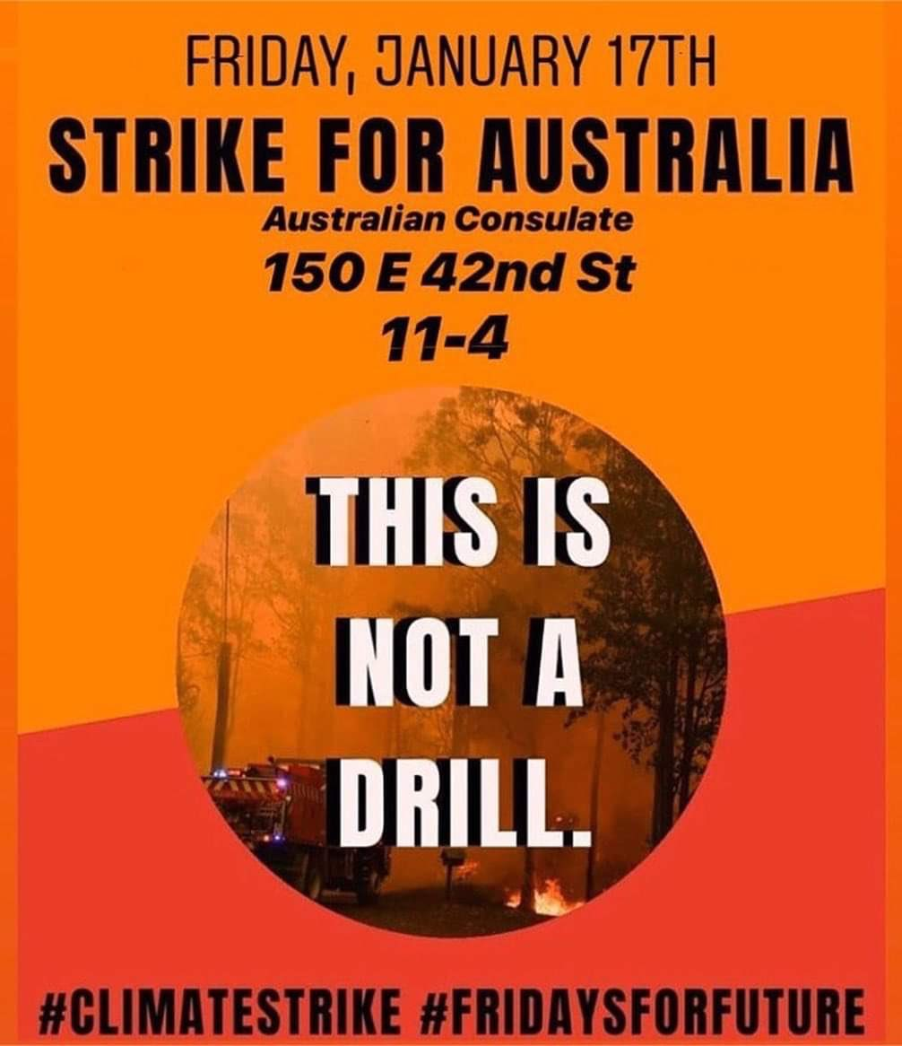 #ScoMo and the Australian Govt sabotaged UN COP25 climate agreement and refuse to reduce national Carbon emissions. They were negligent in heeding warnings of the imminent fire risk. #AustraliaBushfires . Protest in NewYork, this Friday<br>http://pic.twitter.com/swnaZHxCIl
