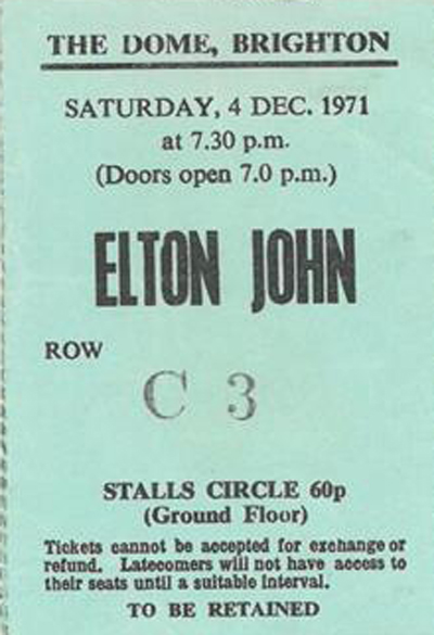 Happy birthday Here s a throwback to Elton John s gig in 1971