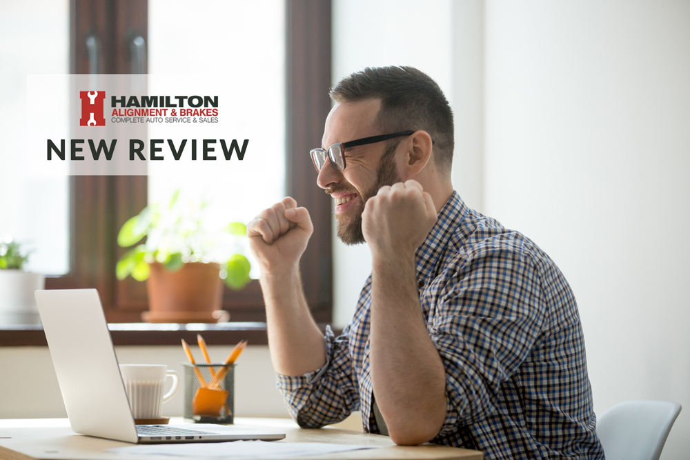 """We want to send a special shout out to Jeremy Arsenault. Jeremy said the following """"Couldnt have asked for better service. Great job, you have a repeat customer in me I will be back thanks again for the alignment"""" http://bit.ly/2sjBYba#HamiltonAlignmentandBrakes #HABAUTO"""