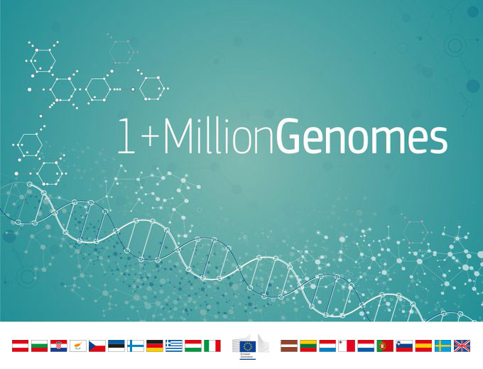 We are working on linking #genomic databases across Europe to: ✔️advance research & understanding of diseases ✔️improve diagnosis & therapy ✔️develop more personalised treatments ✔️improve cost-efficient & sustainable #healthcare. 👉https://t.co/NJogtr5kgU  #1MGenomes https://t.co/r6tpgjvWbC