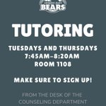 Image for the Tweet beginning: Middle School tutoring is starting