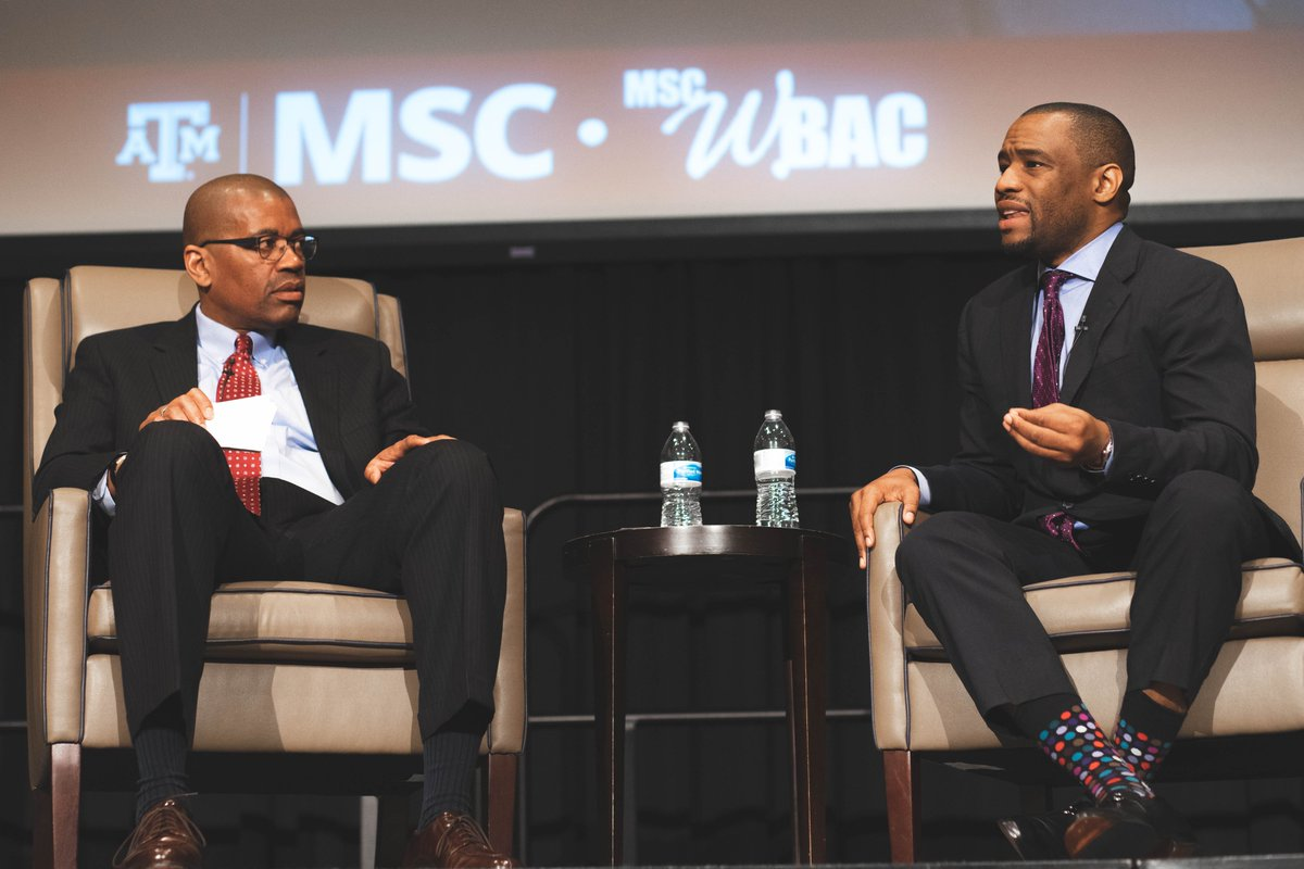 #Speaker @marclamonthill joined the @TAMU community this week to celebrate the legacy of Martin Luther King, Jr.  Photo Credits: Dylan Manshack and Austin Gunn